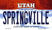 Springville Utah State License Plate Wholesale Magnet