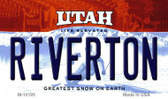 Riverton Utah State License Plate Wholesale Magnet