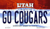 Go Cougars Utah State License Plate Wholesale Magnet