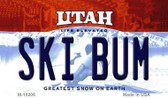 Ski Bum Utah State License Plate Wholesale Magnet
