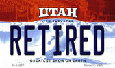 Retired Utah State License Plate Wholesale Magnet