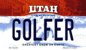 Golfer Utah State License Plate Wholesale Magnet