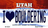 I Love Bouldering Utah State License Plate Wholesale Magnet