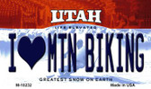 I Love Mtn Biking Utah State License Plate Wholesale Magnet