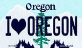 I Love Oregon Oregon State License Plate Wholesale Magnet