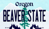 Beaver State Oregon State License Plate Wholesale Magnet