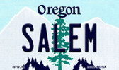 Salem Oregon State License Plate Wholesale Magnet