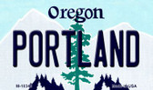 Portland Oregon State License Plate Wholesale Magnet