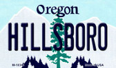 Hillsboro Oregon State License Plate Wholesale Magnet