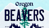 Beavers Oregon State License Plate Wholesale Magnet