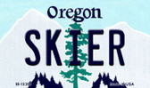 Skier Oregon State License Plate Wholesale Magnet