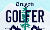 Golfer Oregon State License Plate Wholesale Magnet