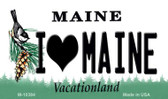I Love Maine State License Plate Wholesale Magnet