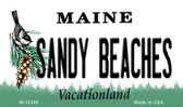 Sandy Beaches Maine State License Plate Wholesale Magnet