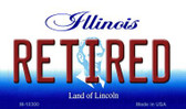 Retired Illinois State License Plate Wholesale Magnet