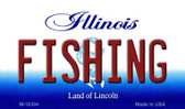 Fishing Illinois State License Plate Wholesale Magnet