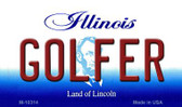 Golfer Illinois State License Plate Wholesale Magnet
