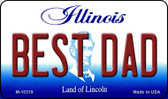 Best Dad Illinois State License Plate Wholesale Magnet