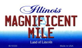 Magnificent Mile Illinois State License Plate Wholesale Magnet