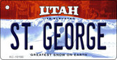 St. George Utah State License Plate Wholesale Key Chain
