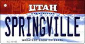 Springville Utah State License Plate Wholesale Key Chain