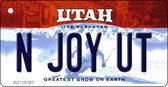N Joy UT Utah State License Plate Wholesale Key Chain