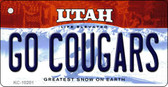 Go Cougars Utah State License Plate Wholesale Key Chain