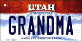 Grandma Utah State License Plate Wholesale Key Chain