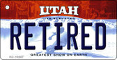 Retired Utah State License Plate Wholesale Key Chain