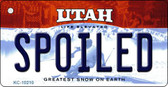 Spoiled Utah State License Plate Wholesale Key Chain