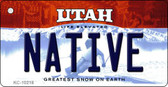 Native Utah State License Plate Wholesale Key Chain