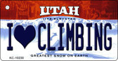 I Love Climbing Utah State License Plate Wholesale Key Chain