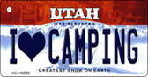 I Love Camping Utah State License Plate Wholesale Key Chain