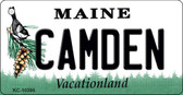 Camden Maine State License Plate Wholesale Key Chain