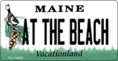 At The Beach Maine State License Plate Wholesale Key Chain