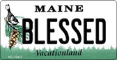 Blessed Maine State License Plate Wholesale Key Chain