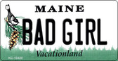 Bad Girl Maine State License Plate Wholesale Key Chain
