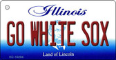Go White Sox Illinois State License Plate Wholesale Key Chain