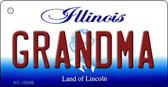 Grandma Illinois State License Plate Wholesale Key Chain