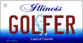 Golfer Illinois State License Plate Wholesale Key Chain
