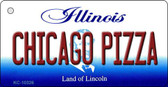Chicago Pizza Illinois State License Plate Wholesale Key Chain