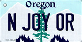 N Joy OR Oregon State License Plate Wholesale Key Chain
