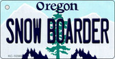 Snow Boarder Oregon State License Plate Wholesale Key Chain
