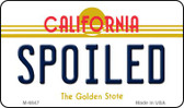 Spoiled California State License Plate Wholesale Magnet