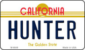 Hunter California State License Plate Wholesale Magnet