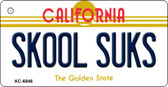 Skool Suks California State License Plate Wholesale Key Chain