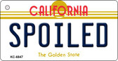 Spoiled California State License Plate Wholesale Key Chain