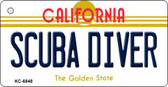 Scuba Diver California State License Plate Wholesale Key Chain