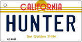 Hunter California State License Plate Wholesale Key Chain