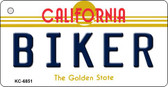 Biker California State License Plate Wholesale Key Chain